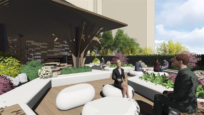 带屋顶花园办公楼景观设计方案SU模型(16)