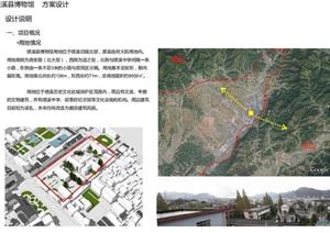 古典中式绩溪县博物馆SU(草图大师)模型(附高清PDF建筑方案文本)