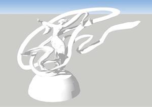 嫦娥人物雕塑小品SU(草圖大師)模型