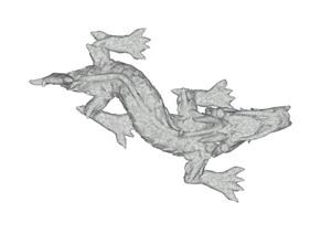中國龍雕塑景觀小品SU(草圖大師)模型