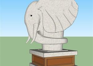 大象雕塑景觀小品SU(草圖大師)模型