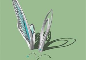 一个蝴蝶雕塑景观小品SU(草图大师)模型