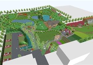 现代风格城市生态农庄景观方案SU(草图大师)模型