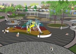 现代风格休闲公园景观设计方案SU(草图大师)模型