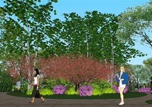 龍湖南別墅示范區景觀設計方案SU(草圖大師)模型