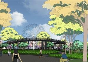 滨湖公园景观设计方案SU(草图大师)模型