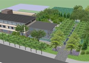 揚州售樓處示范區景觀設計方案SU(草圖大師)模型