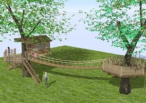 6個景觀瞭望塔設計方案SU(草圖大師)模型