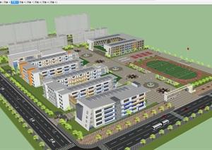 渭南市中心小学SU(草图大师)模型