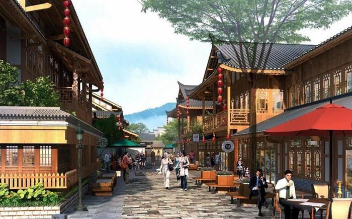 土家族民俗文化风情商业街SU模型(4)
