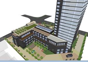 湖州市商業銀行大廈建筑方案SU(草圖大師)模型