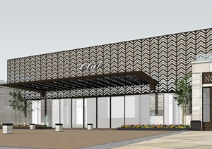 新古典风格沿街商业+售楼处方案SU(草图大师)模型