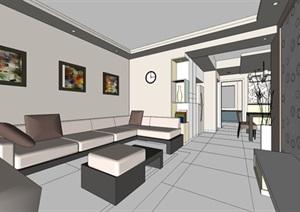 简约欧式风格客餐厅设计