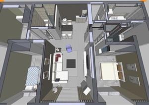 精美的现代北欧风格别墅室内设计