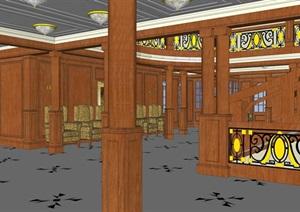 精美的古典风格酒店大堂装饰设计