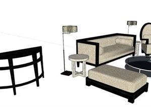 精细的沙发单体SU(草图大师)模型