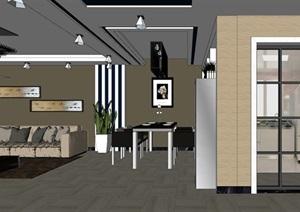 精美的现代美式风格室内设计方案