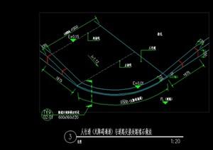 无障碍道牙、直道牙、弯道牙路缘石CAD施工图