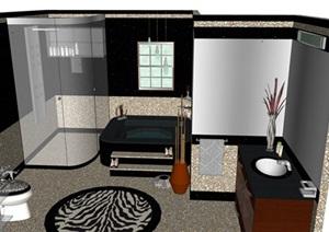 北欧现代风卫生间室内设计