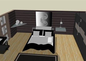 古典绅士风格卧室设计方案