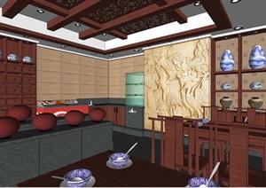 中式古典风格中药馆建筑设计