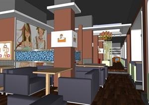 現代風格快餐店室內設計方案