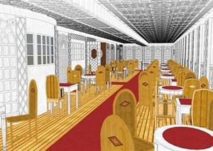 古典風格餐館大唐設計方案