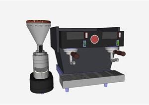精细的冰淇淋机器SU(草图大师)模型