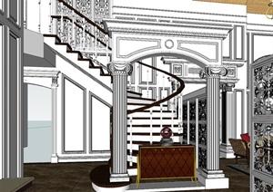 欧式轻奢风别墅室内设计