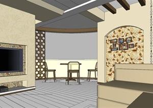 轻奢风欧式住宅室内设计