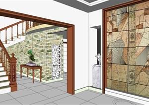 现代风格 整体别墅室内设计方案