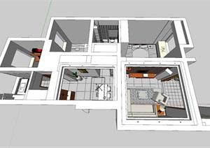 现代中式建筑室内设计图纸