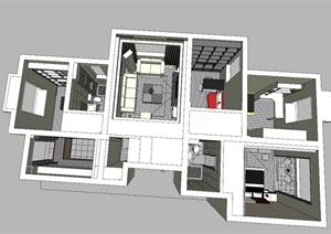 现代简约风室内设计图纸