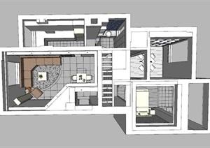 现代简约风室内设计模型图纸