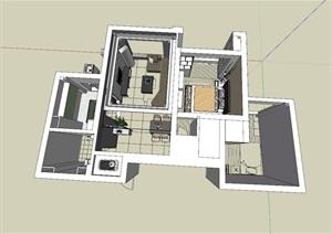 北欧简约住宅室内设计模型
