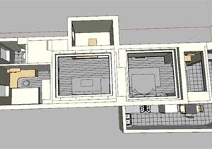简约风的住宅内部住宅空间设计
