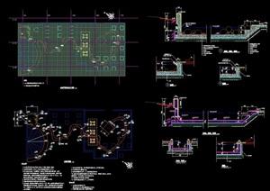 完整的水池结构cad施工详图
