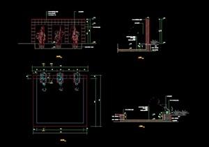 喷泉详细水池设计cad施工详图