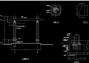 园林景观弧形花架设计cad施工图