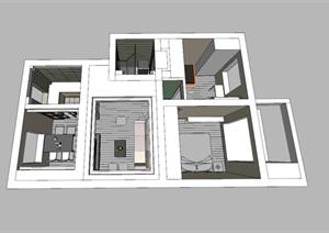 精美的小清新风格别墅室内设计