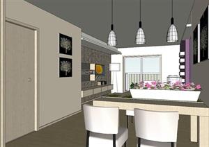 精美的日式风格公寓住房室内设计