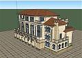 三層自建獨特完整的別墅設計su模型