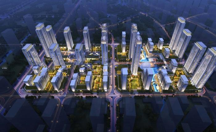 某現代風格高層+商業+售樓部su精細模型(1)