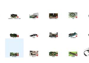 SU草图大师居住区小区景观规划设计模型