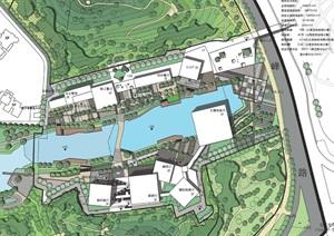 东莞规划展览馆建筑设计方案(附CAD总平面图)
