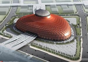 上海2010世博会中国馆建筑、室内与景观设计方案(附3DMAX建筑模型)
