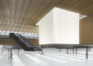 蚌埠博物馆+档案馆+规划馆建筑设计方案(附CAD建筑平面图与总平面图)