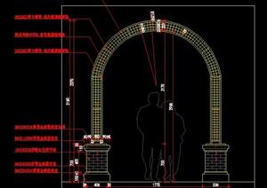 欧式法式英式铁艺花架拱门施工图详图