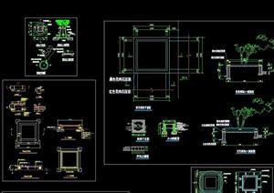 园凳树池详细完整设计CAD合集