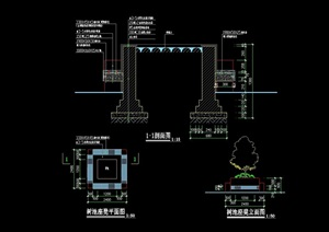 树池及祖婆的详细设计cad施工图